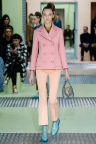 Prada's pink on pink. Notice the jacket.
